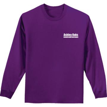 Unisex custom screen print long sleeve t shirt purple for Custom printed long sleeve t shirts