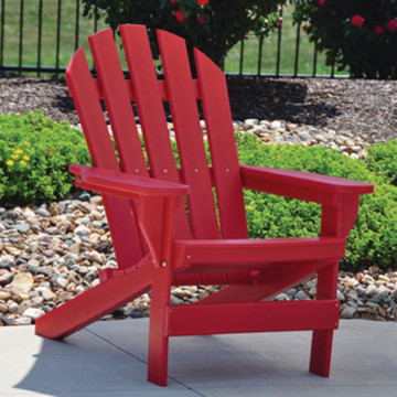 Adirondack Chair Red Recycled Plastic HD Supply