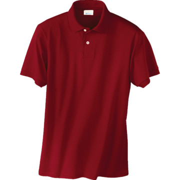 Men 39 s custom screen printed short sleeve polo shirt red for Screen printing polo shirts