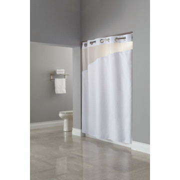 Hookless Holiday Inn Shower Curtain 71 X 77 White Case Of 12 Hd Supply