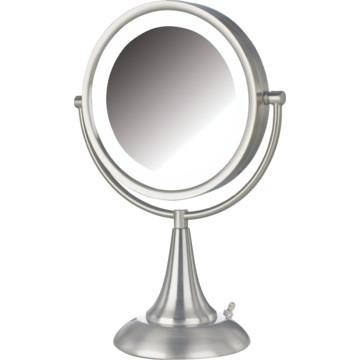 jerdon 8 5 tall vanity mirror nickel led lighting case of 3 hd supply. Black Bedroom Furniture Sets. Home Design Ideas