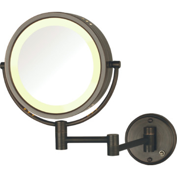 jerdon 8.5 wall mounted direct wire mirror bronze lighted ... jerdon mounted mirror wiring diagram 03 silverado mirror wiring diagram #5