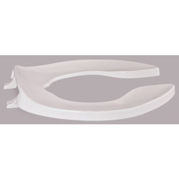 Centoco Heavy Duty Plastic Toilet Seat Elongated Open Front Without Lid Whit