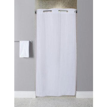 Hookless 10 Gauge Stall Size Vinyl Shower Curtain White Case Of 12 Hd Supply