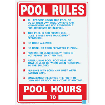 Pool Spa Safety Sign Pool Rules Hd Supply