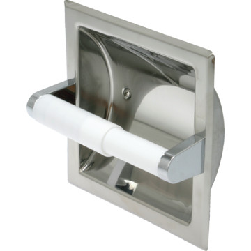 Bright polished stainless steel toilet paper dispenser recessed hd supply - Recessed toilet paper dispenser ...
