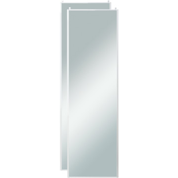 48 x 80 white framed mirror wardrobe door 120 series for Mirror 120 x 80