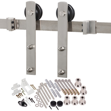 decorative sliding barn door hardware stainless steel