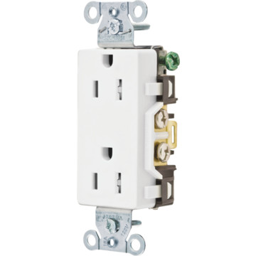 Hubbell White Duplex Receptacle Hd Supply